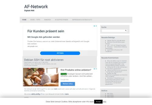 Screenshot AF-Network