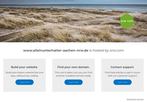 Screenshot Alleinunterhalter NRW