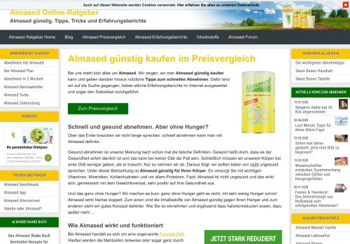 Screenshot Almased-Ratgeber.de