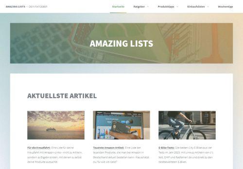 Screenshot Amazing Lists - Amazon Einkaufslisten
