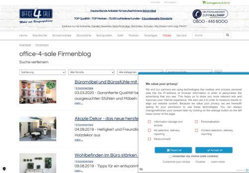 Screenshot Büromöbel gebraucht und neu von Markenherstellern