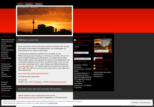 Screenshot Berlin Fotos Berlin Bilder - Newsblog