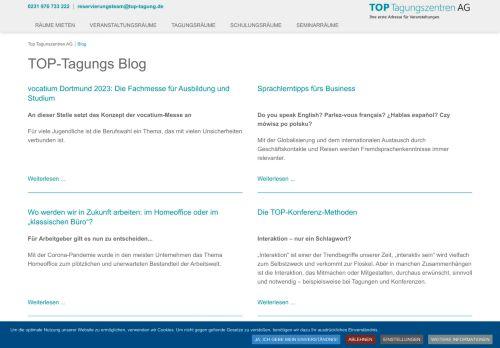 Screenshot Blog von Top-Tagung