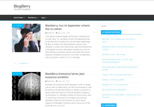Screenshot Blogberry - IT News täglich