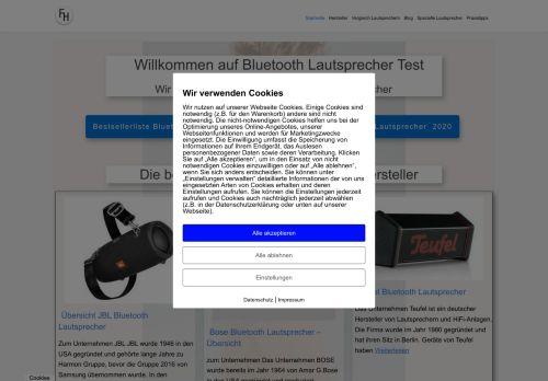 Screenshot Bluetooth Lautsprecher Test- und Vergleichsportal
