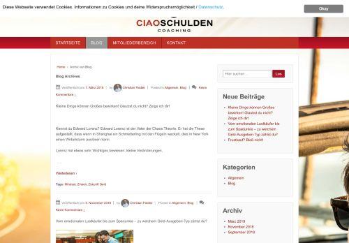 Screenshot Ciao Schulden: Lebe selbstbestimmt und frei