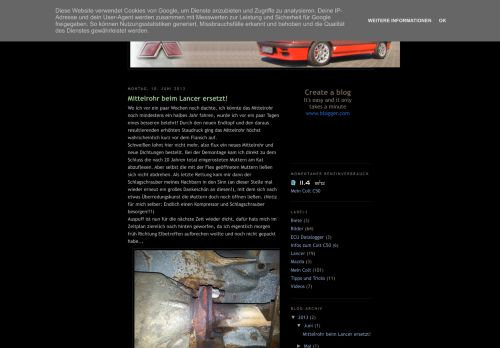 Screenshot Colt C50 Blog