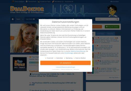 Screenshot DealDoktor :: Schnäppchen-Blog