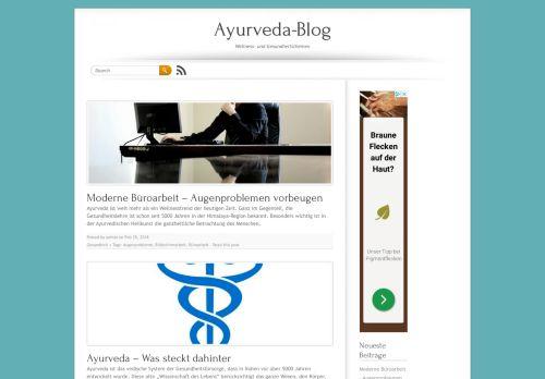 Screenshot Der Ayurveda Blog