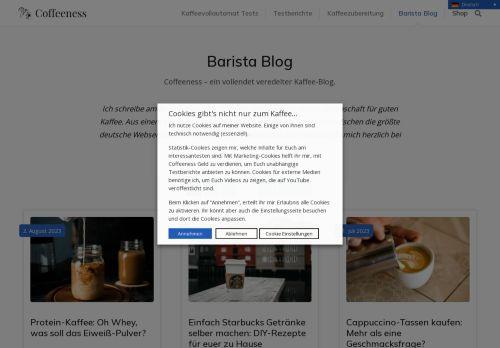 Screenshot Der Barista-Blog