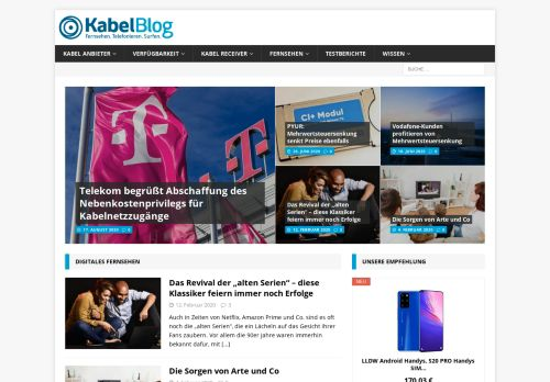 Screenshot Der Kabel Blog