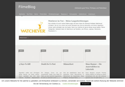 Screenshot Filme Blog
