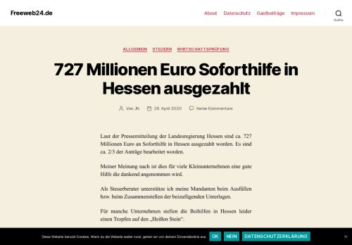 Screenshot Freeweb24