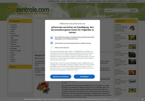 Screenshot Gifzentrale Blog