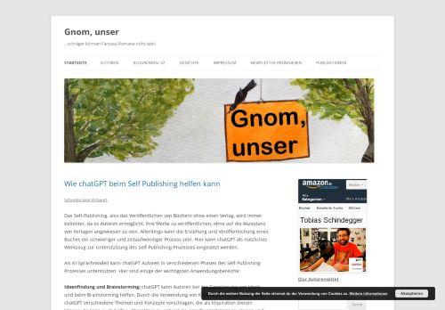 Screenshot Gnom, unser - ein Fantasy-Blogroman