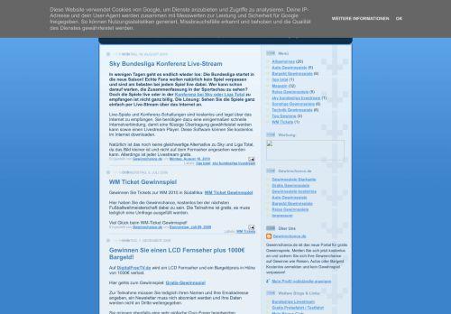 Screenshot Gratis Gewinnspiele Blog