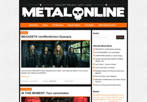 Screenshot Heavy Metal Blog