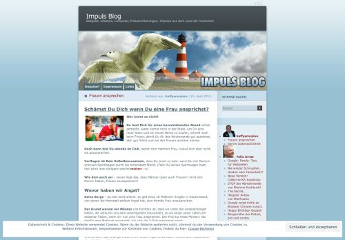 Screenshot Impuls Blog
