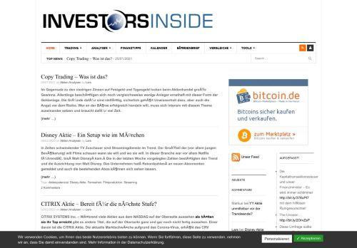Screenshot Investors Inside