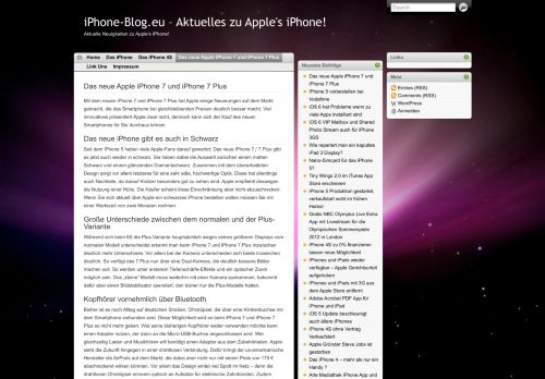 Screenshot iPhone-Blog - Aktuelles zu Apples iPhone!
