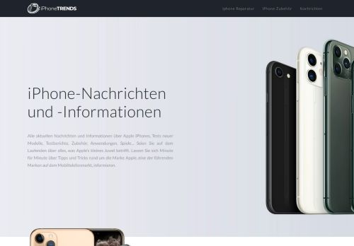 Screenshot iPhone-Trends.de - Trends und News