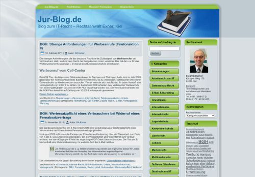 Screenshot Jur-Blog.de