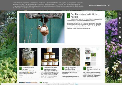 Screenshot Kleingarten Blog