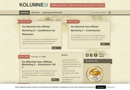Screenshot kolumne24
