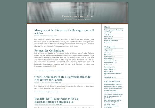 Screenshot Kredit und Finanz Blog