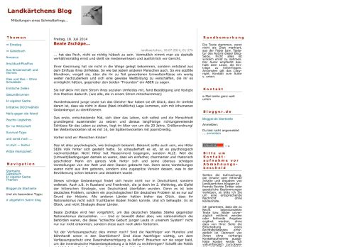 Screenshot Landkärtchens Blog