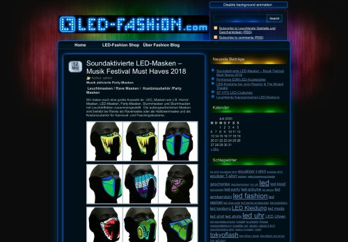 Screenshot LED Fashion Blog