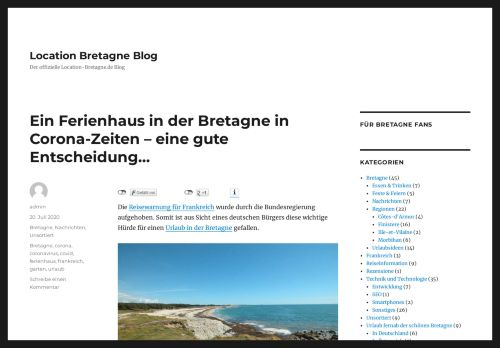 Screenshot Location Bretagne Blog