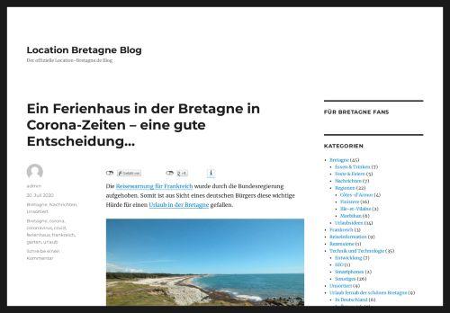 Screenshot Location Bretagne Blog