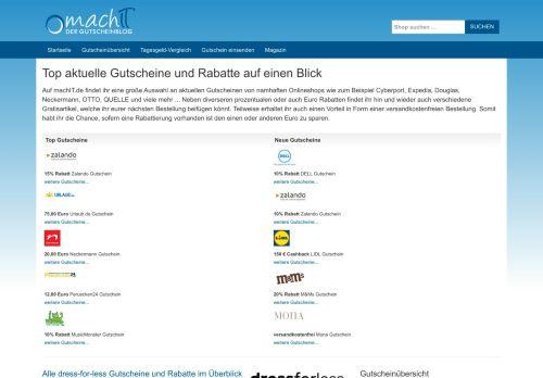 Screenshot machIT.de - Der Gutscheinblog von A bis Z