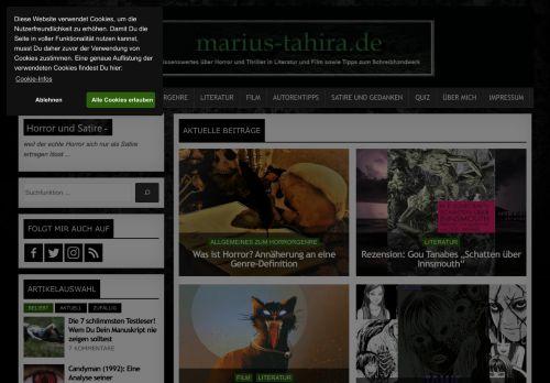 Screenshot Marius Tahira - Der Horror-Blog