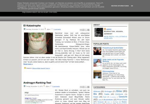 Screenshot Mein Trainingsblog (Steps To Androgyny)