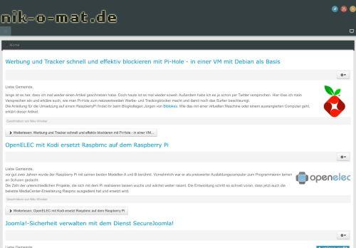 Screenshot nik-o-mat - Nikos Wissen Online