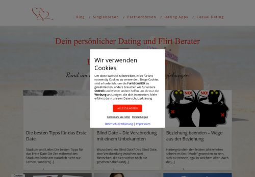 Screenshot Online Dating Ratgeber