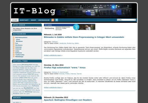 Screenshot Pascals IT-Blog