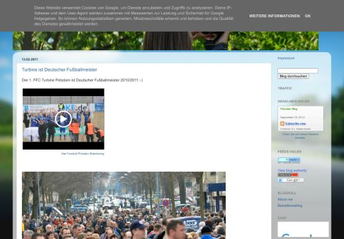 Screenshot Potsdam Blog
