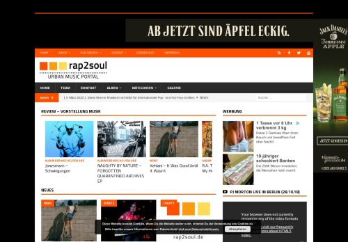 Screenshot rap2soul - Black Music Portal