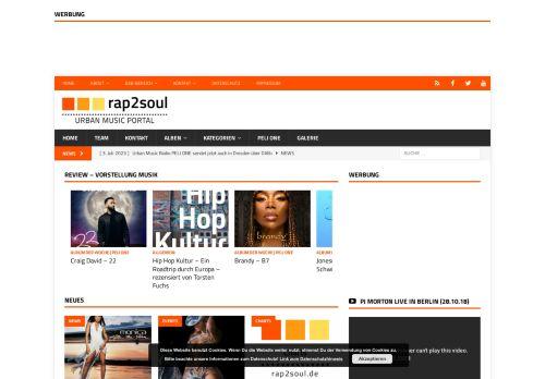 Screenshot rap2soul - Black Music Portal