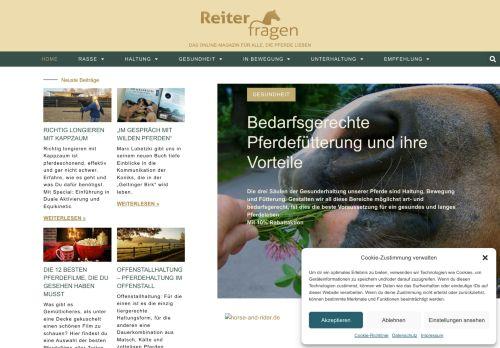 Screenshot Reiterfragen - Reiter und Pferde