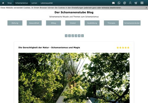 Screenshot Schamanenstube: der Stubenblog