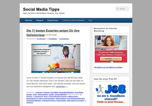 Screenshot Social Media Tipps
