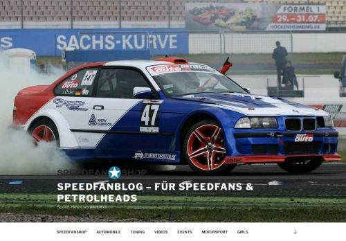 Screenshot SPEEDFANBLOG - News, Infos und Drivestyle