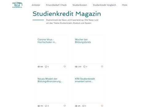 Screenshot Studienkredite