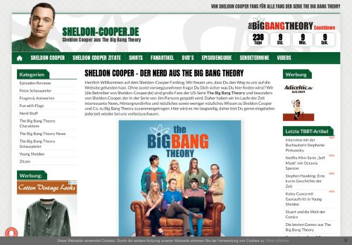 Screenshot The Big Bang Theory Fanblog