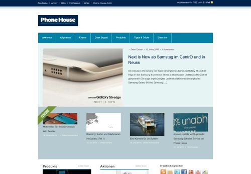 Screenshot The Phone House Weblog