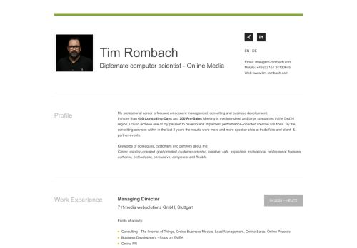 Screenshot Tim Rombach - Privater Blog